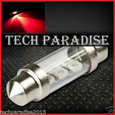 2x Ampoule 36mm C5W C7W C10W LED Bulb 3 SMD Rouge Red plaque Navette Festoon