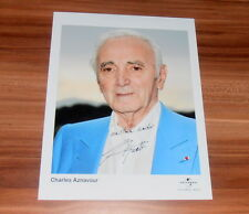 Charles Aznavour *Chanson France*, original signed Photo 20x25 cm (8x10)