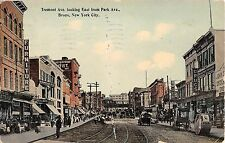 c.1910 Stores Tremont Ave. looking East from Park Ave. Bronx NY post card
