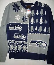 NFL NWT BUSY BLOCK UGLY SWEATER YOUTH -SEATTLE SEAHAWKS  - YOUTH MEDIUM