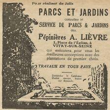 W5260 Parchi e Giardini A. Lièvre - Pubblicità 1929 - Publicitè