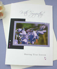 Handmade Personalised Sympathy Condolence Bereavement Thinking of you Card