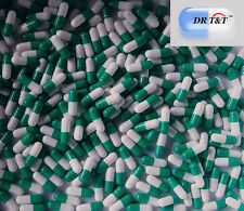 DR T&T 100 Empty Green white Gelatine Gelatin capsules filling size 0 size0