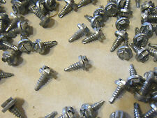 "Sheet metal screw 1000 pcs #10-16 x .5"" Crimptite USA serrated self drilling"