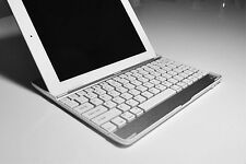 Aluminum Bluetooth Wireless Keyboard Case for iPad2 iPad3 iPad4 New iPad