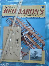 BUILD THE RED BARON'S FIGHTER PLANE FOKKER DR1  HACHETTE  ISSUE 24  NEW SEALED