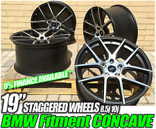 "19"" BMW 3 SERIES CSL E91 DEEP SPOKE CONCAVE ALLOYS WHEELS 5X120 black polished"