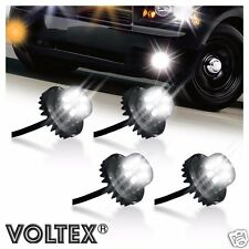 VOLTEX 4pc Clear 2nd Gen. 6W LED Hide-Away Strobe Kit Vehicle Lightbar Bar