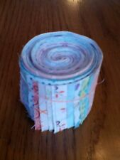 """20 Pre-cut Cotton Quilting Fabric Strips jelly roll 2"""" x 18""""  BRIGHT Spring"""