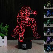Iron Man3D LED Tischlampe Tischleuchte Leselampe Nachtlicht Weihnachten Geschenk