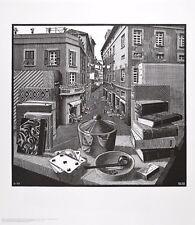MC Escher Stilleben und Strasse Poster Kunstdruck Bild 65x55cm - Portofrei