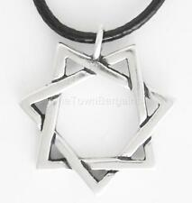 .925 Silver SEPTAGRAM Pendant and Leather Cord 7 SISTERS Feminist Woman