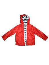 Girl Splendid Red Blue White Stripe Reversible Windbreaker Raincoat Size 4/5