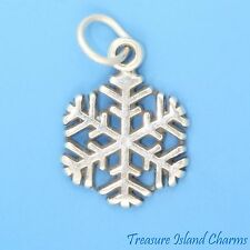 SNOWFLAKE Winter Snow Christmas .925 Solid Sterling Silver Charm Pendant