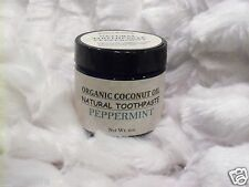 Organic Coconut Oil Natural Peppermint Toothpaste 2oz