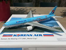 """1:200 Herpa Wings KOREAN AIR Boeing 777-200ER """"World Cup"""" HL7530 RARE Sold Out!"""