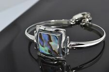 925 STERLING SILVER HANDMADE BRACELET WITH MOTHER OF PEARL LENGTH 2.5 inches