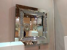 Tuscany Large Wall Mirror Filled With Swarovski Crystals 90cm