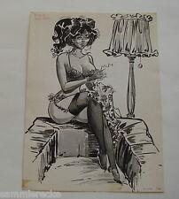 Originalzeichnung erotisches Pin-up ZeichnerJordi Buxade