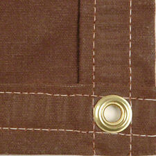 Canvas Tarp - Heavy Duty 18 OZ- 12' x 14' - Brown Color - NEW - Free Shipping