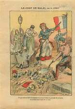 Caricature Anti Maçonnique Anarchistes Revolution France 1912 ILLUSTRATION