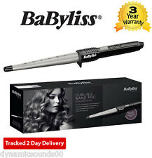 BaByliss Pro 2285CU Conical Ceramic Hair Curling Wand Salon Curlers Tong Styler