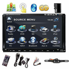 "Sony Lens 7"" In Dash 2 Din Car Stereo Player GPS Navigation 3D Bluetooth TV+CAM"