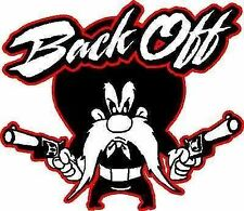 Yosemite Sam Back Off vinyl window car decal sticker