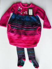 Catimini NWT Infant Colorful Sweater Dress & Tights Size 12 Months Retail $160.