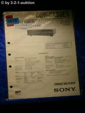 Sony Service Manual CDP CA80ES CD Player (#5079)