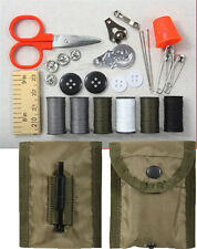Emergency Military Repair Sewing Kit with Case & Belt Keeper