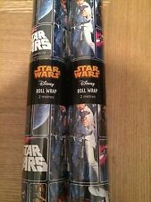2Metre Star Wars Wrapping Paper Giftwrap X2