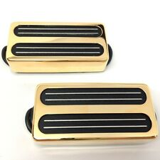 Bare Knuckle Impulse 7-String Humbucker Guitar Pickup Set Gold Radiator Covers