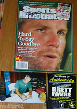 GREEN BAY PACKERS BRETT FAVRE SIGNED Hard to say Goodbye SPORTS ILLUSTRATED COA