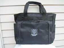 Topper Black Balistic Nylon Zipper Top Commuter Tote Large Bag NWT