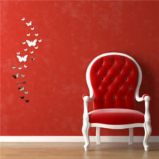 12pcs 3D Mirror Butterfly Wall Stickers Decal Removable Homer Room DIY Newest