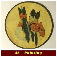 WW2 Hand Painted Antique Finish 462nd Bomb Sqd Leather Patch A2 Flying Jacket