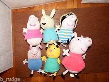 Bundle 6 Talking Peppa Pig & friends soft plush toy figure george doll candy cat