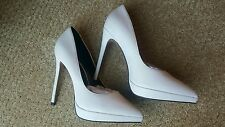 ALDO White LEATHER Pumps Heels Shoes Size 36 6