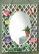 BUTTERFLY FLORAL LATTICE MIRROR  NRFB