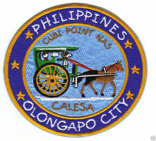 CALESA HORSE DRAWN CARRIAGE IN PHILIPPINES PATCH, CUBI POINT, OLONGAPO CITY    Y
