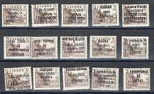 ESPAÑA  EDIFIL 1044 CID. MNH. 15 SOBRECARGAS PATRIOTICAS . SIN FIJASELLOS