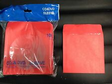 1000 RED CD DVD BLU RAY VIDEO GAME PAPER SLEEVE ENVELOPE CLEAR WINDOW FLAP