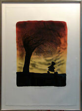 "Mackenzie Thorpe ""Dreaming Dreaming"" H.Signed with custom frame Make an Offer!"