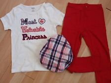 NWT GIRLS GYMBOREE SZ 6 SHIRT, LEGGINGS, HAT HOMECOMING KITTY