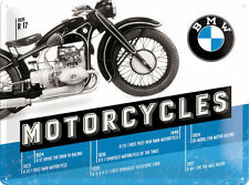 BMW Motorcycles, R17 Vintage Classic Motorbike, Large 3D Metal Embossed Sign