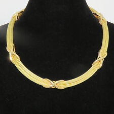 NYJEWEL 18k Solid Gold New Amazing Italy X Link Double Rope Chain Necklace