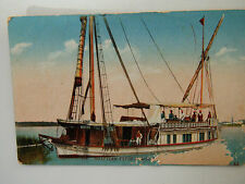 Egypt Egyptian Types & Scenes Sailing Boat Old Postcard