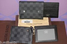 Louis Vuitton Damier Graphite Compact 4/1 Wallet Coin Chain ID LIMITED *Gift-It*