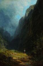 In the Alpine High Valley Carl Spitzweg Wendelstein MONTAGNE, ALPI B a3 00992